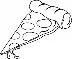 pizza clipart black and white. Cheese Pizza Slice Black And White Clipart