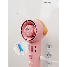 Quạt mini cầm tay phun sương,hơi nước tích điện không cánh tiện lợi an toàn  dễ sử dụng chính hãng 128,000đ
