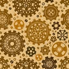 Gear Pattern Inspiration Gear Weels Retro Vector Seamless Pattern Steampunk Grunge