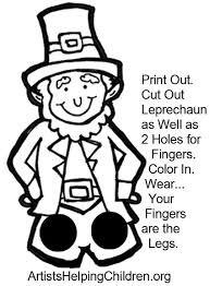 template of a leprechaun leprechaun mask template images template design ideas