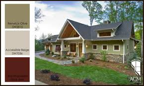 exterior paint color combinations. exterior paint color palette - green craftsman combinations r