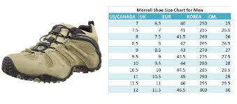 Size Chart Merrell Shoes Latest Merrell Shoe Size Chart For Men Best Mens Footwear