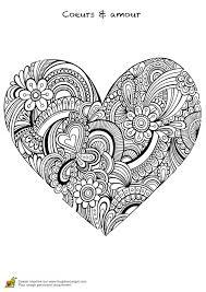Dessin De Coeur Imprimer Coloriage De Coeur Mandala Colorier Coeur Flamme Mandala Gratuit