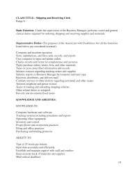 Shipping And Receiving Resume Objective Examples Resume For Your