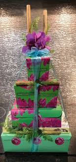 hawaiian snack gift box tower by basket boutique kauai