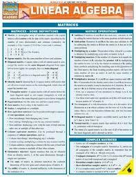 Amazon Com Linear Algebra Study Chart Everything Else
