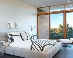 white modern master bedroom. Modern Master Bedroom Interiors Mid Sized Minimalist Porcelain Floor And Gray Photo In White N