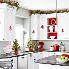 Kitchens Decorated For Christmas Red Kitchen Accessories Ideas Quicuacom