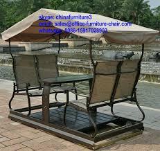 modern style metal patio swing with garden hanging swing
