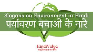 Slogans On Environment In Hindi परयवरण बचओ क