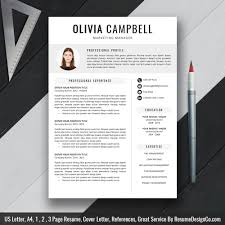 Modern Resume Template, Cv Template, Professional And Creative ...