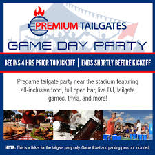 Premium Tailgate Game Day Party Minnesota Vikings Vs
