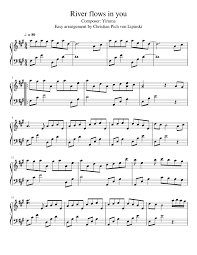 Download free river flows in you sheet music yiruma pdf for piano sheet music free pdf download River Flows In You Easy Arrangement Sheet Music For Piano Solo Musescore Com