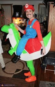 illusion costume ideas mario riding yoshi costume