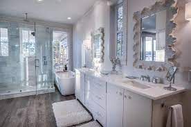 Beach Cottage Master Bathroom Design With Extra Large Shower Cottage Bathroom