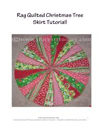 Rag Quilted Christmas Tree Skirt | Christmas crafts/food ... & Rag Quilted Christmas Tree Skirt Adamdwight.com