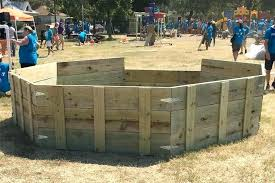 gaga ball pit complete back indoor wooden