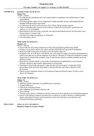 Wiring Technician Job Description - Wire Center •