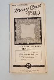 Crochet Pricing Chart Mary Card Crochet Pattern Chart Number 73 Pansy And Bees Tea Cloth Tablecloth Original Filet Pattern Excellent Condition