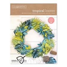 Paper Flower Kit Tropical Leaves Frosted Paper Flower Kit