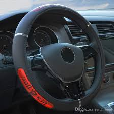 free hot drangon design leather auto car steering wheel cover 38cm 15 anti catch holder protector