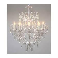 elegant plug in chandelier throughout crystal chandeliers lighting h25 x w24 swag plug in
