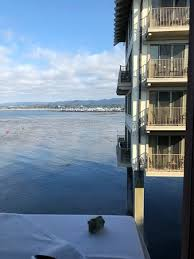 Ocean Kelp And Monterey Plaza Hotel Seen From Chart House
