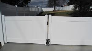 vinyl fence double gate. PRIZM VINYL FENCES Style: Bedford Color: White (Double Drive Gate With Caster Wheels Vinyl Fence Double