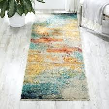 teal runner rug celestial runner rug teal green runner rug