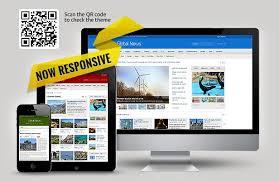 Global News Portal Html5 Css3 Template Portal News