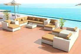 outdoor furniture sectional sofa wicker patio set white teak cortez sea 9 piece sectiona outdoor furniture sectional