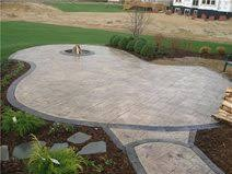 stamped concrete patio. Stamped Patio With Decorative Border Concrete O