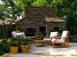 outdoor fireplace pizza oven patio traditional with backyard container plants fireplace