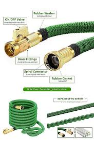 garden hose gasket. Watering Plants 50Ft Flexible Expanding Garden Hose Solid Brass Connector Green #VicTsing Gasket