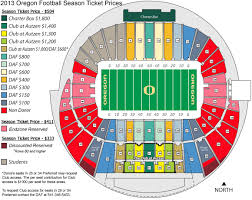 University Of Oregon Football Stadium Seating Chart Football Season Tickets Now On Sale To General Public