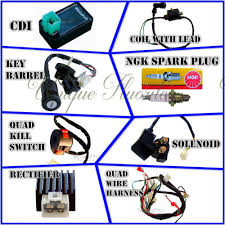 aliexpress com buy 50cc 70cc 110cc 125cc atv quad electric full aliexpress com buy 50cc 70cc 110cc 125cc atv quad electric full set parts wire cdi ignition coil rely rectifier key function switch spark plug from