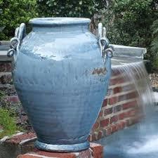 Decorative Garden Urns Vinci Urn French Blue Glaze Urn Glaze and French blue 89
