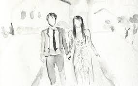 Jewish Wedding Illustration Custom Wedding Portrait Wedding Gift