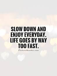 Everyday Life Quotes Cool Slow Down And Enjoy Everyday Life Goes By Way Too Fast Picture Quotes