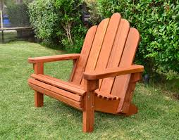 custom redwood adirondack chair made in u s a