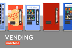 How To Design A Vending Machine Cool Six Vending Machine Flat Design Graphic Objects Creative Market