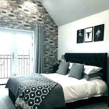 white bedroom ideas grey and black decor with plants for small rooms
