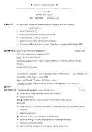 Interior Designer Sample Resume Interior Designer Sample Resume