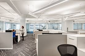 office cubicle lighting. Omers Offices \u2013 New York City. American Office. Cubicles. Exposed Ceiling. Dark Office Cubicle Lighting E