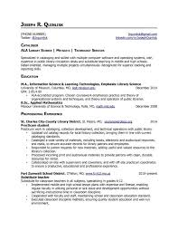Librarian Resume Sample Musiccityspiritsandcocktail Com