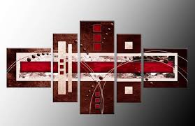 red and brown canvas wall art