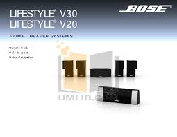 bose v20. pdf for bose home theater lifestyle v20 manual