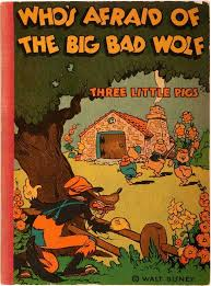 three little pigs and an ill fated wolf c 1933 the big bad wolf