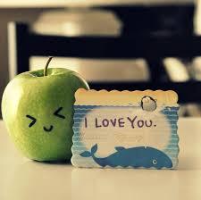 apple cute love you