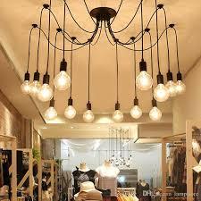 6 8 10 12 16 vintage edison bulbs spider pendant lamp home ceiling light fixtures chandeliers lighting multiple adjule diy ceiling lamp vintage edison
